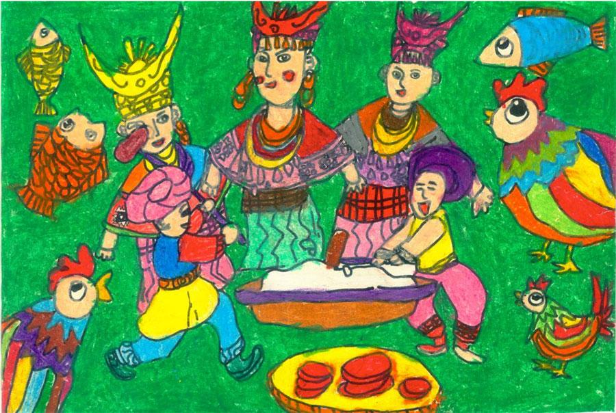 """""""绘出心中的童谣—全国少年儿童"""